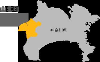 神奈川県山北町のマップ